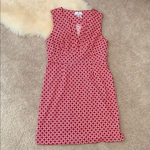 Jude Connally Dresses - Jude Connally Split Neck Red Dress - Sz M